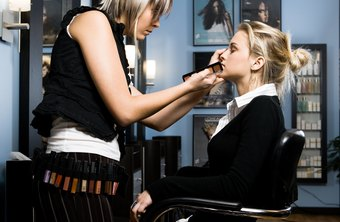 Makeup artists learn to use tools and techniques for creating many looks and conditions.