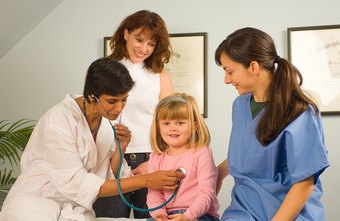 A pediatrician treats childhood illnesses and advises parents on health and nutrition.