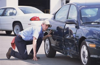 Auto body repair technicians determine damage by sight and feel.