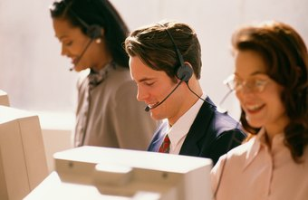 Many telemarketers and customer service representatives are employed in call centers.