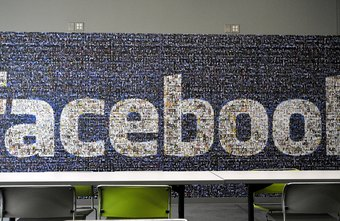 This Facebook logo is composed entirely of profile photos.