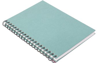 A spiral notebook is easy to take with you to the gym.