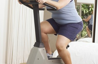 Riding a stationary bike is effective for fat loss and easy on your joints.