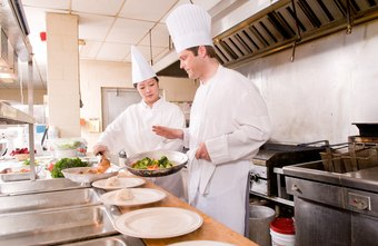 Chefs and head cooks oversee kitchen staff.