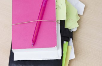 Writing down tasks in a planner by deadline date helps set priorities.