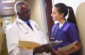Patient care technicians report to physicians on the status of their patients.