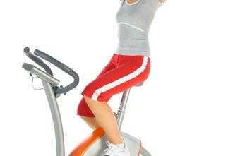Pedaling an exercise bike slowly is a low-intensity workout.