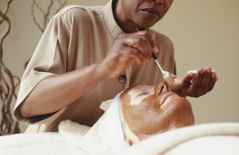 Estheticians often give facials to clients to help improve their skin.