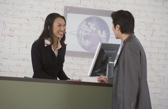 An office assistant communicates with clients and organizes the daily processes of an office.