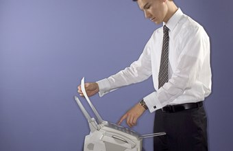 Transmit important business documents with a fax machine.