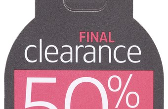 Clearance discounts can draw customers.