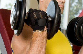 Dumbbell curls target your biceps.