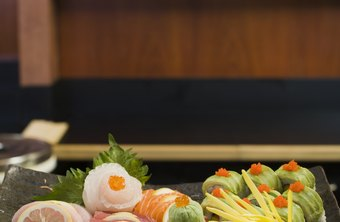 The head sushi chef is responsible for designing the menu and presentation.
