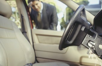 An experienced car locksmith can usually open a locked car door within a few minutes.