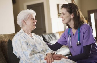 Visiting nurses help patients who cannot easily travel.