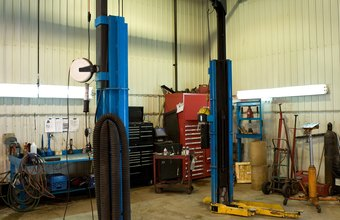 Hydraulic jacks are basic equipment in automotive repair shops.