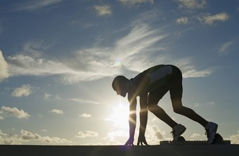Your body produces energy anaerobically at the start of any race.