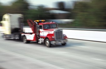 Tow trucks are often used in the recovery business.