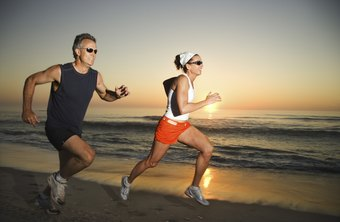 When running on sand, your calves work to normalize your gait.