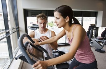 A regular workout on the exercise bike helps keep you in shape.