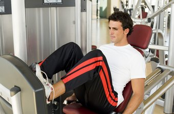 The leg press machine is an effective alternative to barbell squats.