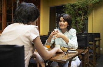 Ask a customer to a business lunch to get to know her better.