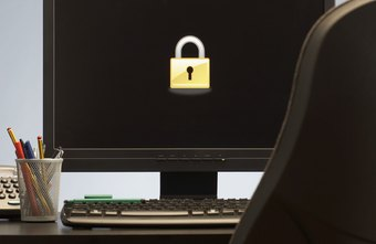 Locking computers help protect confidential information.