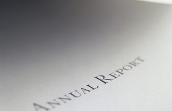 An annual report is an overview of a company's financial progress.