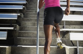 Running stairs increases lower-body muscle and strength.
