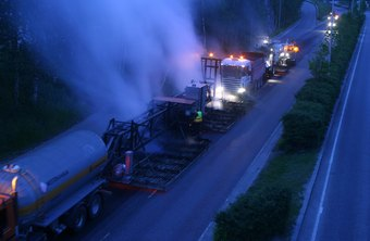 Heavy equipment operators doing roadwork often work at night.