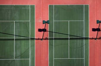 White duct tape will provide a similar look to the lines on a professionally built tennis court.