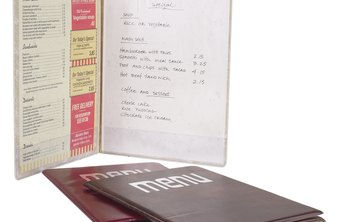 Your menus should be as individual as your restaurant.