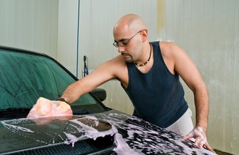 Car washers typically work at car washes or automobile dealers.