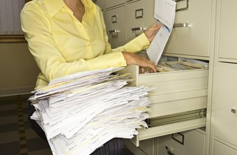 Improve document filing systems with indexes and archives.