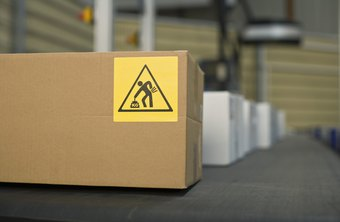 Strategically placed warning labels remind employees to work safely.