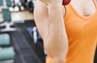 Dumbbell biceps curls develop your biceps at the front of your arms.