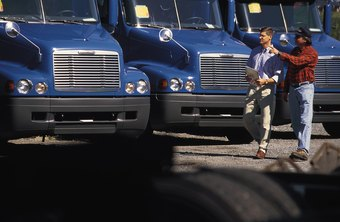 Fleet managers monitor vehicle performance and driver behavior.