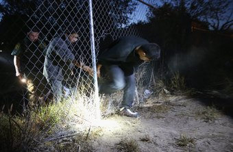 Border Patrol agents try to prevent illegal entry by undocumented aliens.