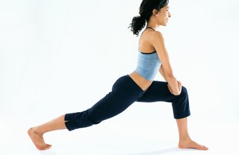 The runner's lunge is one stretch for your hip flexors and quads.