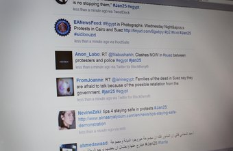 Twitter and hashtags played a key communication role in the Arab Spring of 2011.
