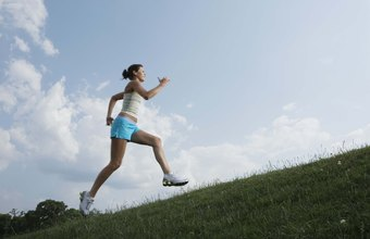 Running on an incline increases the effort and conditioning effects of a jog.