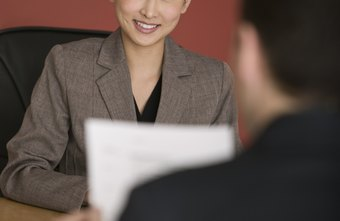 A positive attitude helps in a job interview.