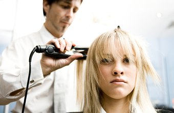 Beauty salon managers hire professional and administrative staff.