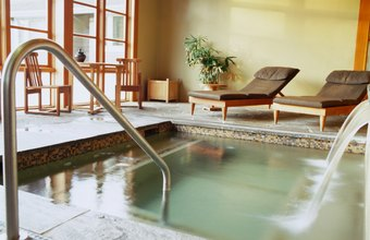 Use your showroom to help people see themselves relaxing in a spa.