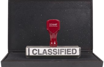 Standard DoD classifications include confidential, secret and top secret.