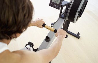 A rowing machine can be an effective workout tool.