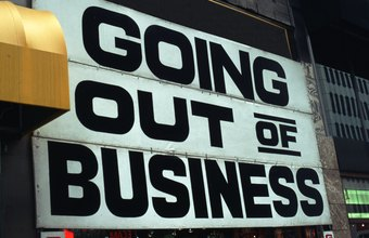 A business that ceases operations is unlikely to pay off its outstanding debt.