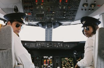 Captains and co-pilots work together to safely transport passengers and cargo.