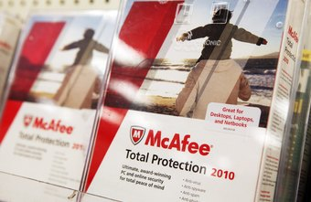 McAfee and Windows Defender protect the computer from different malware.