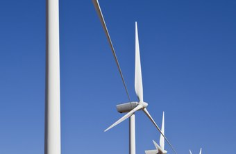 Wind farms use renewable resources to generate electricity.
